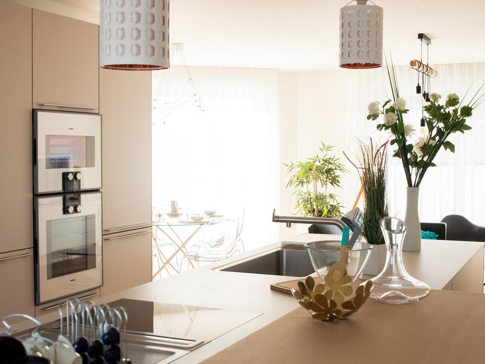 cuisine design appartement résidence Gold à Colmar