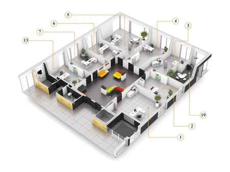 Perspective Workspace coworking (coupe)