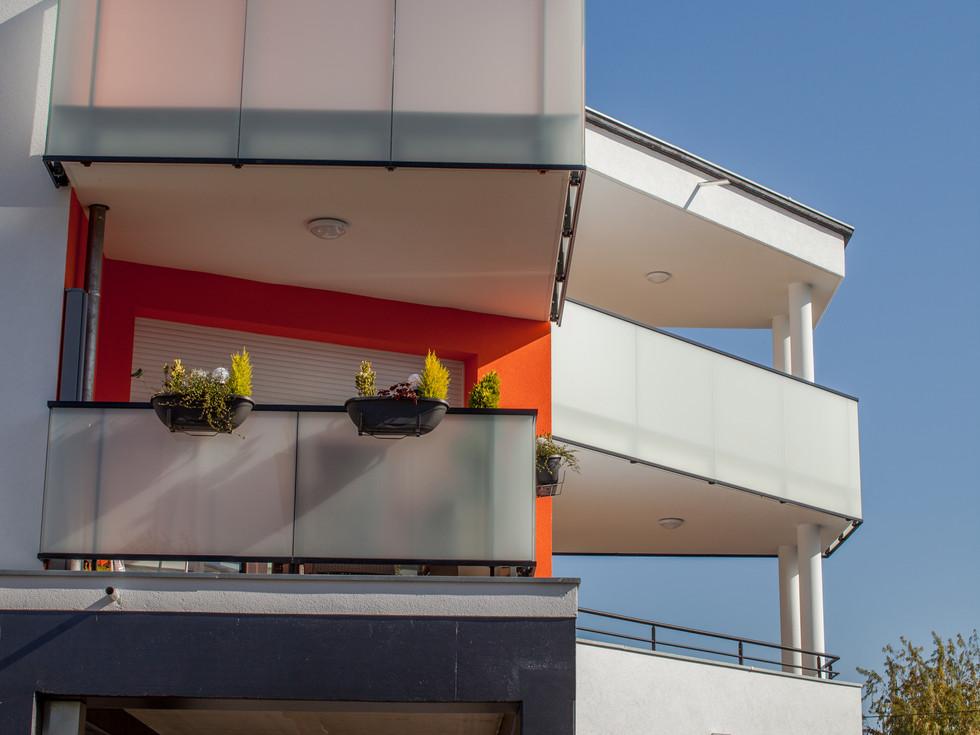 Balcons appartements à louer dans le quartier des Maraichers à Colmar