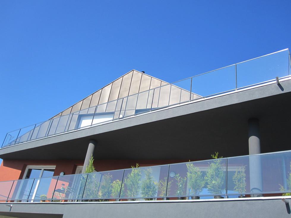 Détail extérieur d'un immeuble commercialisé par Toniutti immobilier à Colmar