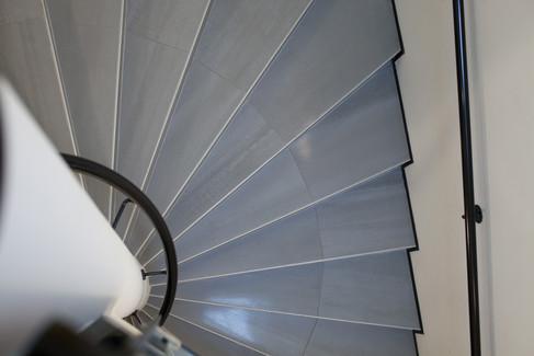Cage d'escaliers de l'immeuble de bureaux commercialisé par Toniutti à Colmar