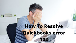 How To Resolve Quickbooks error 102