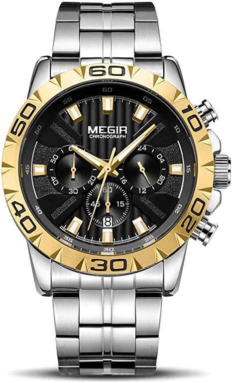 MEGIR Men's Quartz Business Watches