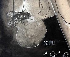"""DU PASSAGE A L'ACTE- TRIPTYQUE 2009 - 2011  Techniques mixtes, 120 x 250 cm, plaque de plâtre    Expositions personnelles :« Du Passage à l'Acte », La Chapelle desTempliers, Saint Aubin des Châteaux, Loire Atlantique, 2016  « Etats des lieux_introduction », Atelier Legault, Pouancé, Maine-et-Loire, 2017  Exposition collective : """"La Nomadienne"""", Marché couvert, Châteaubriant,Loire Atlantique, 2018"""