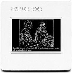 diapositive où un dessin d'un couple se matriant est représenté.