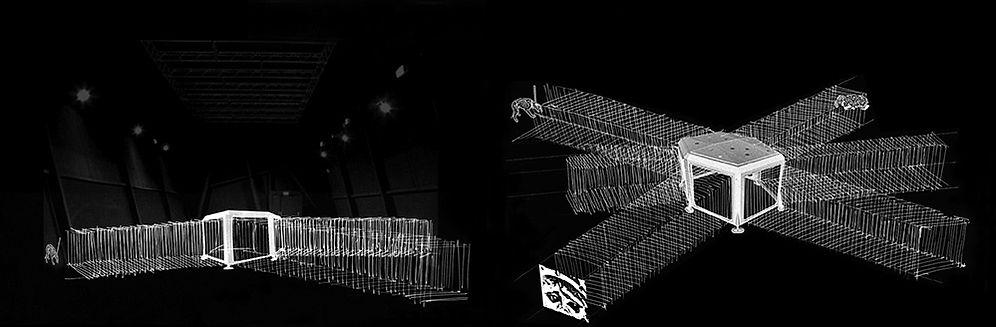 Pour le second épisode de son programme « suggestion de présentation », l'association Tripode a choisi une œuvre atypique, l'Objet - Support n°6 - « M1», du plasticien Cyrille Mariën, une oeuvre de la collection du FRAC Bretagne. Cette œuvre a la particularité d'offrir une variabilité d'installation et d'être le support d'autres pratiques artistiques. Chaque fois que s'opère la mise en oeuvre d'un projet en vue d'une activation de cette structure, le ou les invités doivent alors concevoir et négocier l'articulation de leur proposition avec le « M1», jouer en quelque sorte le jeu dangereux de la collaboration artistique. Tripode invite Sandrine Fallet à réactiver le « M1» qui trouve cette fois-ci un ancrage dans l'obscurité.