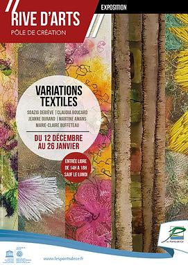 A3 expo Variation textile - Rive d'arts