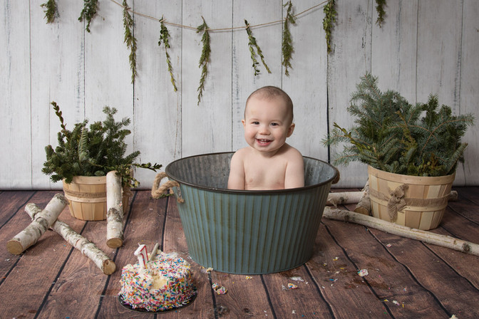 cake smash and splash first birthday bab