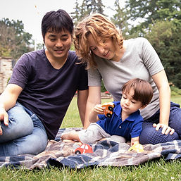 Family bonding outdoors