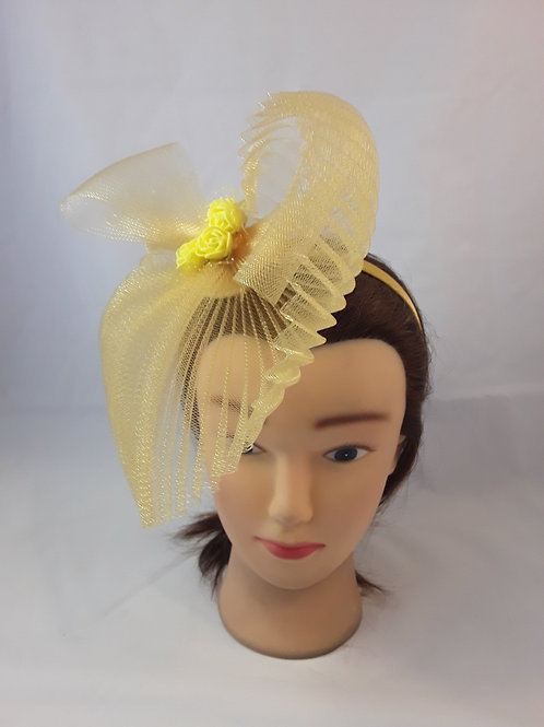 CassyD Antique Yellow  Fascinator