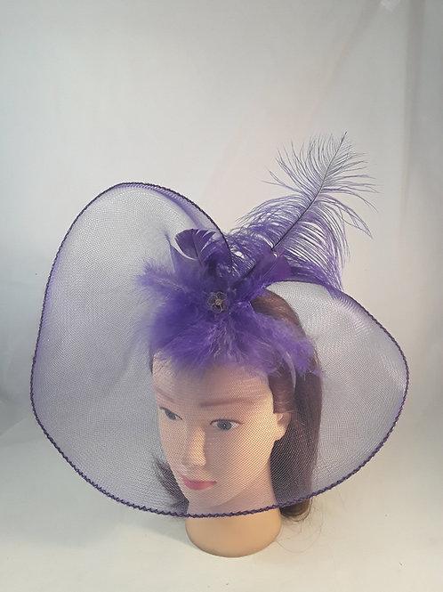 CassyD  Purple Feather Fascinator