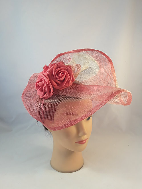 CassyD  Stylish Peach Fascinator