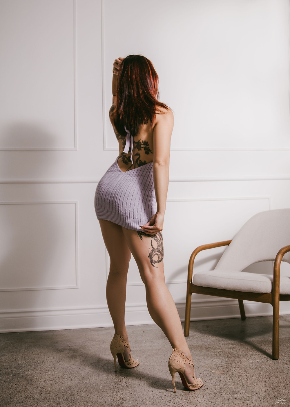 girl in purple dress by painless pleasure photo