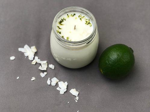 Coconut Lime Verbana Organic Soy Wax Candle