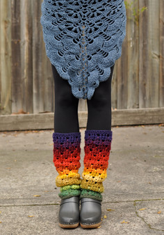 GRANNY SHAWLS AND LEG WARMERS