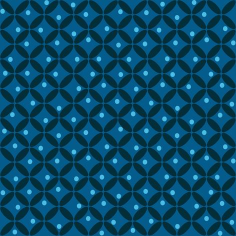 Retro Mod Blue Fabric