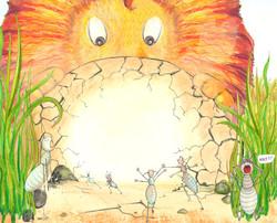 Lion on Mound Smallerjpg