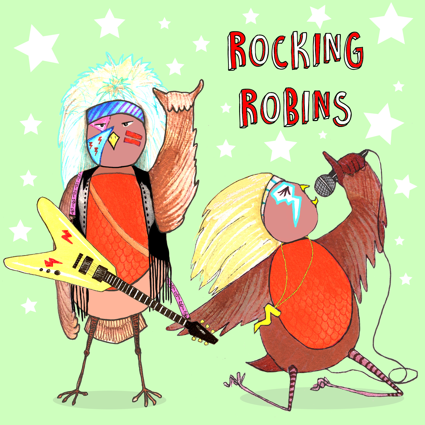 Rocking Robins Card