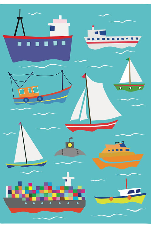 Lots of Boats Poster