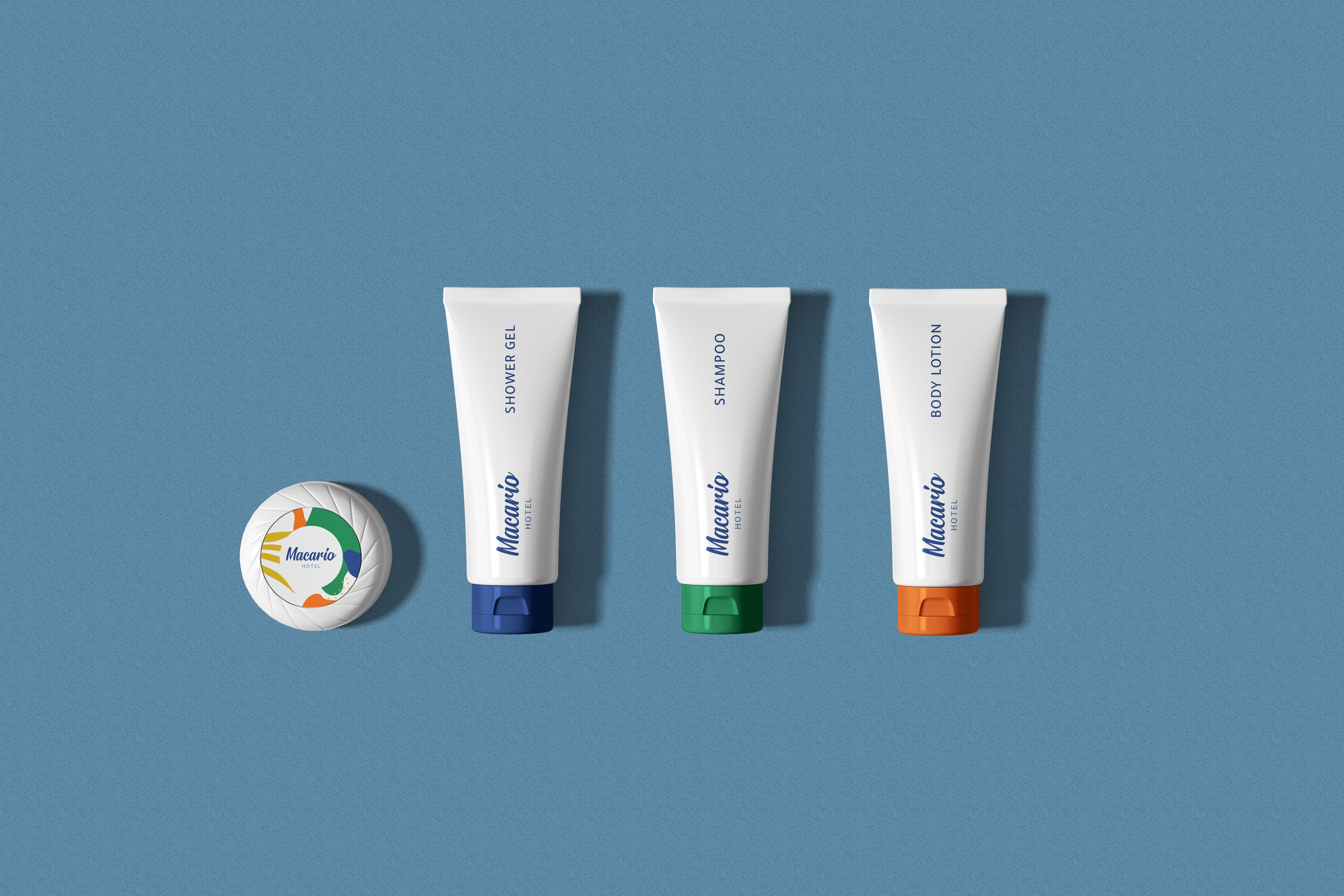 Cosmetics Packaging Set Mockup