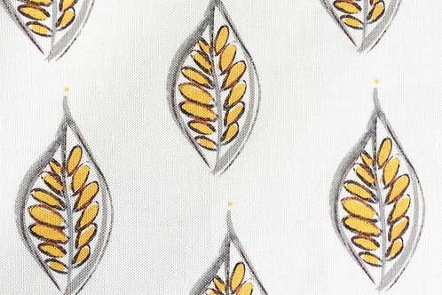 Tunisia Leaves in Yellow Wallpaper - Sample