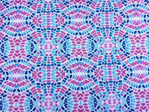 Caribbean Cobblestones Wallpaper-Original in Pink - Sample