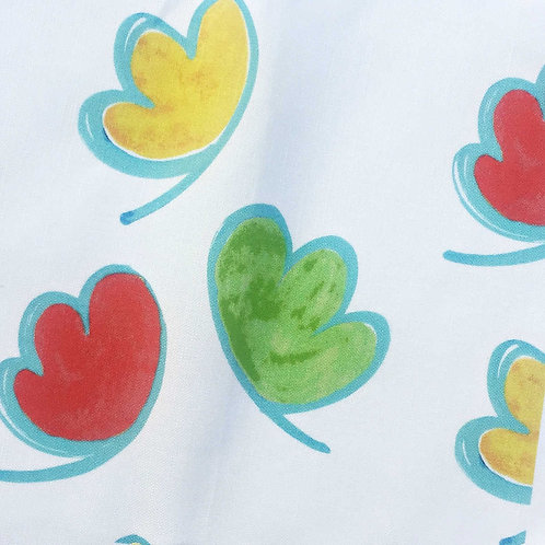 Jellybean Clouds in Apple Green Fabric Swatch