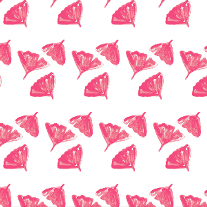 Ginkgo Love Wallpaper in Pink - Sample
