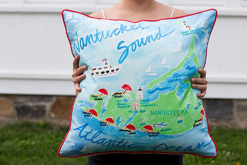 Nantucket Throw Pillow