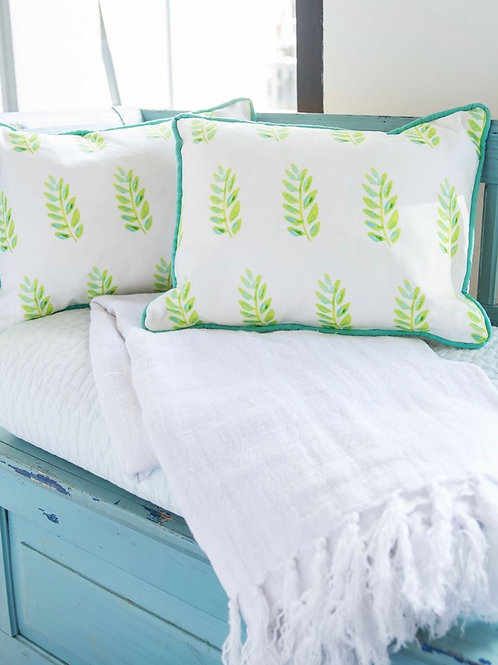 Lime Leaves Pillow