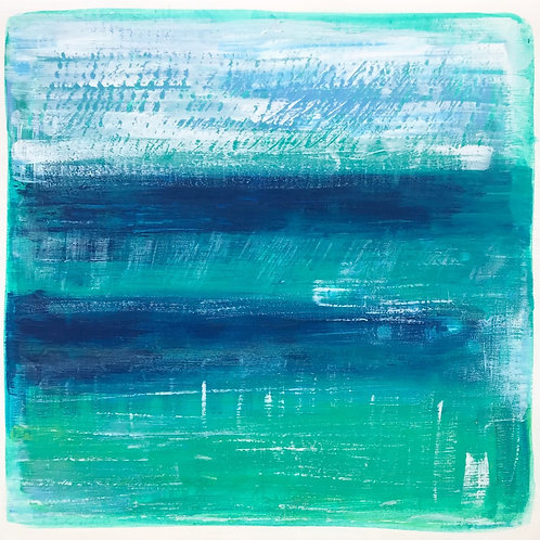 Coastal Inspired: Original Painting 8/9