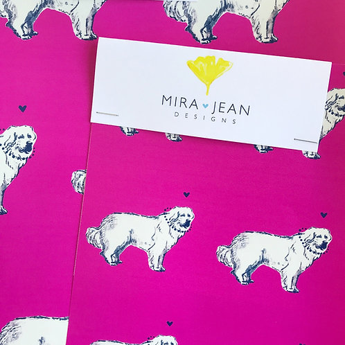 Great Pyrenees in Pink Wallpaper - Sample
