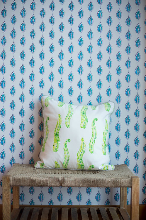 Spring Green Ferns Pillow