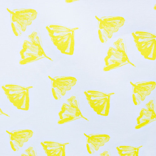 Ginkgo Love in Yellow Fabric Swatch