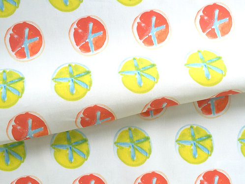 Tomatoes and Sanddollars Fabric Swatch
