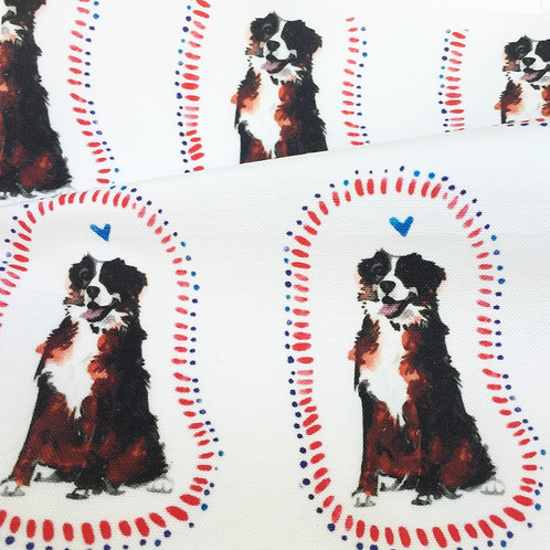 Bernese Mountain Dog Fabric Swatch