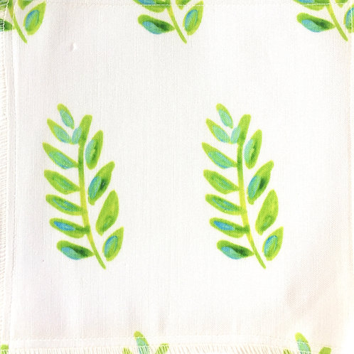 Lime Leaves Fabric Swatch