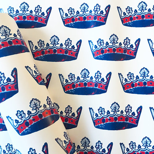 Tiaras in Red, White and Blue Wallpaper - Sample