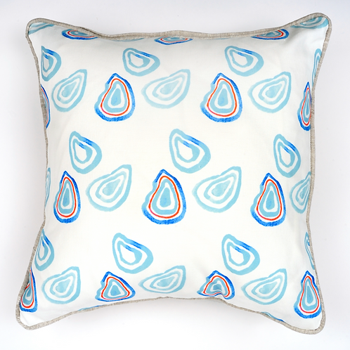 Oysters for Three Throw Pillow
