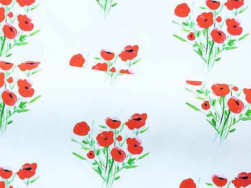 Poppies Fabric Swatch