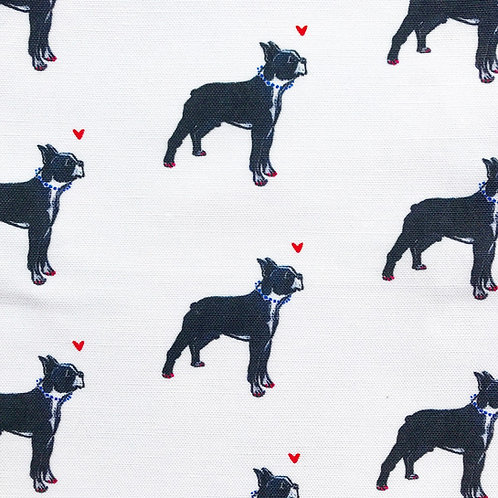 Ms. Boston Terrier - Fabric by the Yard