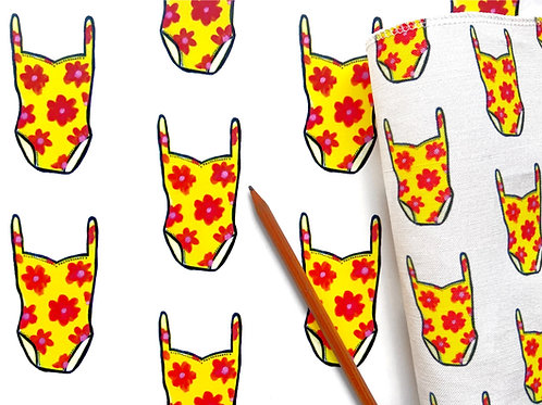 Hello, Dahlia Wallpaper - Sample