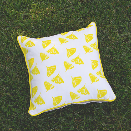Ginkgo Love Pillow in Yellow