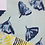 Thumbnail: Ginkgo Love, Indigo on Aqua Fabric Swatch