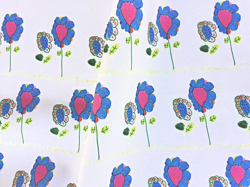 Mira's Flowers Fabric Swatch