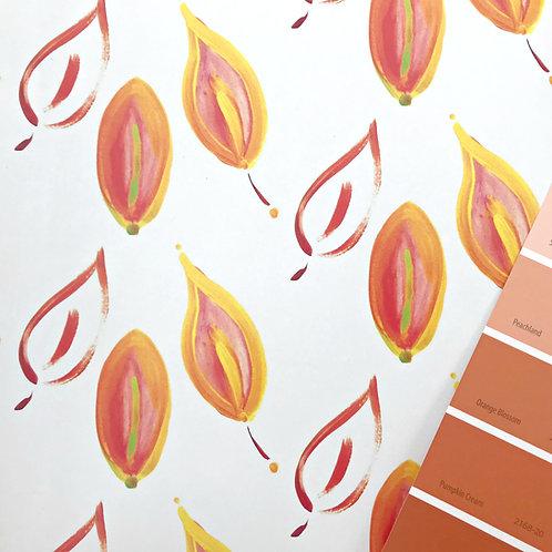 Leaves on Fire Wallpaper - Sample