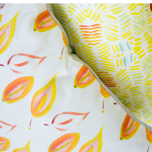 Leaves on Fire Pillow