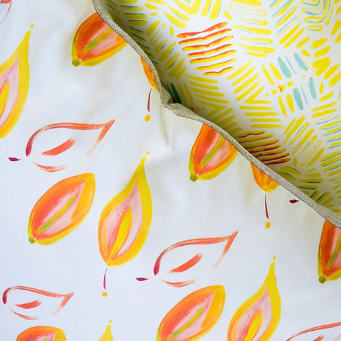 Leaves on Fire Fabric Swatch