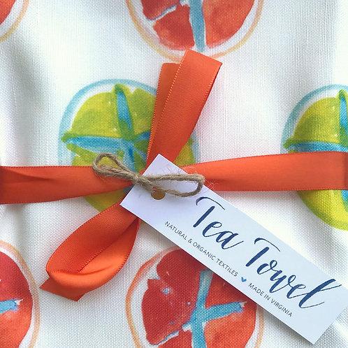 Tomatoes & Sanddollars Tea Towel