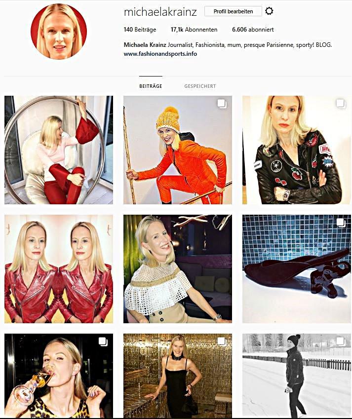 Instagram Seite von Michaela Krainz Bloggerin
